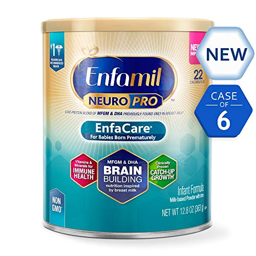 Enfamil NeuroPro EnfaCare Infant Formula - Brain Building Nutrition with Clinically Proven Growth Benefits for Premature Babies - Powder Can, 12.8 oz (Pack of 6)