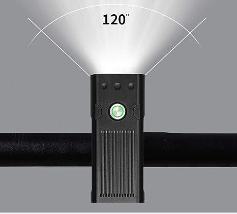 yyqxhly Luz de Bicicleta USB Recargable Luz de Bicicleta IPX6 ...