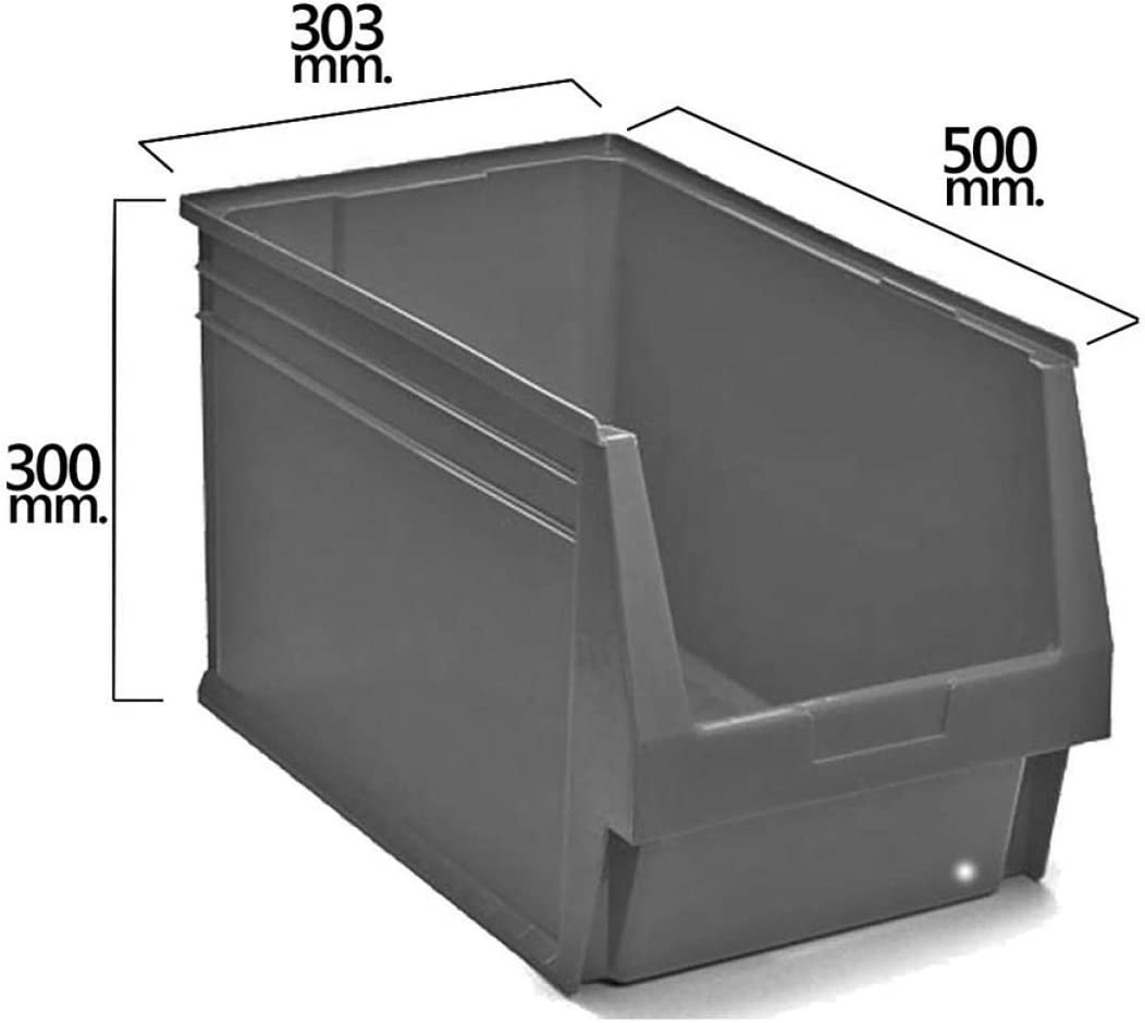 SIN MARCA 21070080 Gaveta Apilable Gris N/º59 500x303x300 mm. 5//6