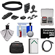 Sony BLT-UHM1 Universal Head Mount with 32GB Card + NP-BX1 Battery + Case + HDMI Cable + Kit for Action Cam HDR-AS100V, AS15 & AS30V Camcorders