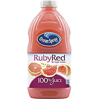 Ocean Spray 100% Juice, Ruby Red Grapefruit Blend, 60 Ounce Bottle (Pack of 8)