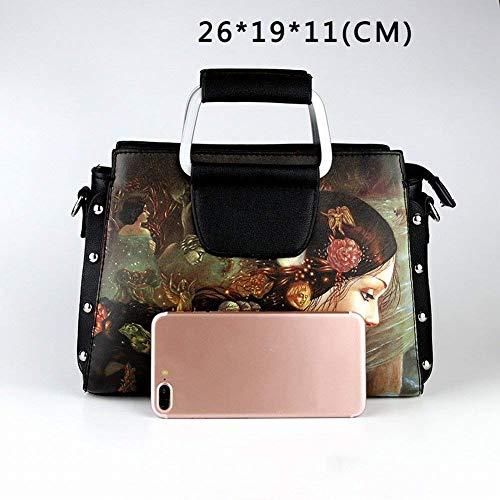 mostratoTaglia BorsaPittura a Bag Donna Bottiglia Casual profumo Mimeograph One SizeEsempio Eeayyygch oliocolorecome di Messenger Borsa Semplice eWrxodQCB