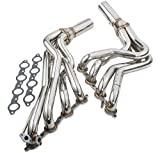 Stainless Steel 2 Piece 4-1 Type Long Tube Racing Exhaust Header For Chevy LS1 5.7L Engine