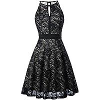 Kate Kasin Lace Halter Sleeveless A-Line Keyhole Wedding Party Formal Dress KK638
