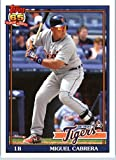 2016 Topps Archives #204 Miguel Cabrera Detroit Tigers Baseball Card in Protective Screwdown Display Case