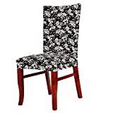 Rrimin Dining Chair Cover Protector Removable Conjoined Stretchy Elastic Floral Chair Seat Cover for Hotel Home Stool (Europe Style)