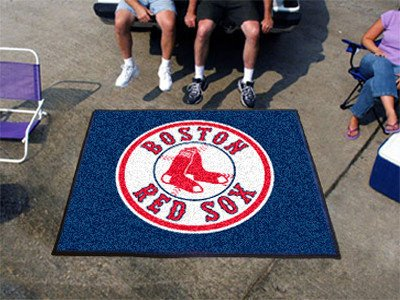 Boston Red Sox Tailgater Rug 5x6 - Licensed Boston Red Sox Gifts Sox Tailgater Rug