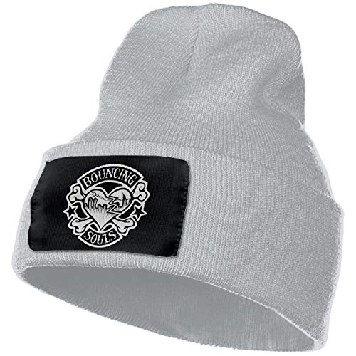 SmallHan Mens & Womens The Bouncing Souls Skull Beanie Hats Winter Knitted Caps Soft Warm Ski Hat Gray