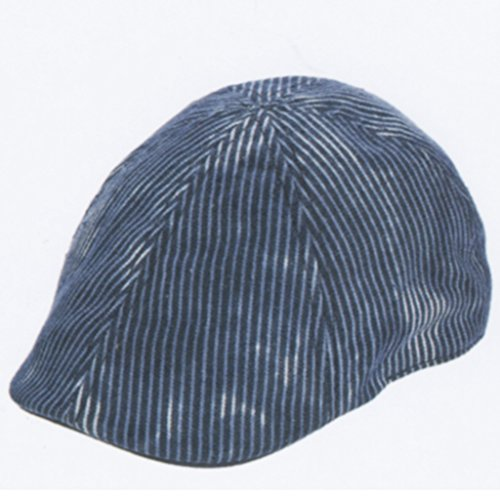 Brooklyn Hat Co. Union Pinstripe Ivy Cap Denim Large