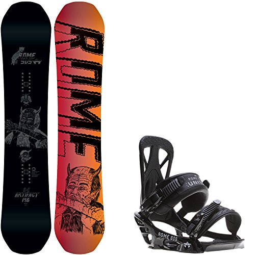 Rome Artifact 146 Mens Snowboard + Rome United Bindings - Fits US Mens Boots Sizes: 7,8,9,10 (Mens Rome Snowboard Package compare prices)