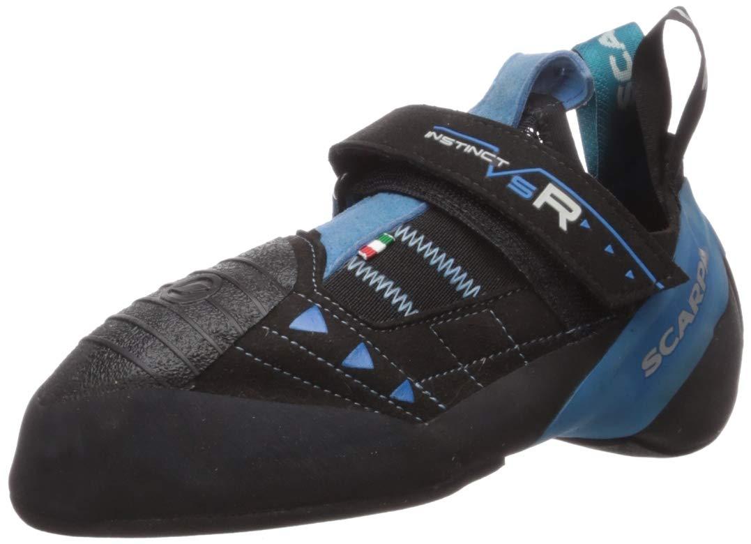 SCARPA Instinct VSR Climbing Shoe, Black/Azure, 34.5 EU/3 M US by SCARPA