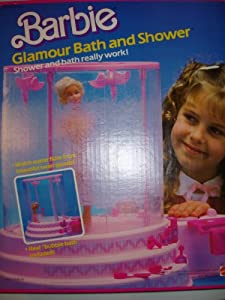 barbie bathroom games 1985 vintage bath and shower 10078
