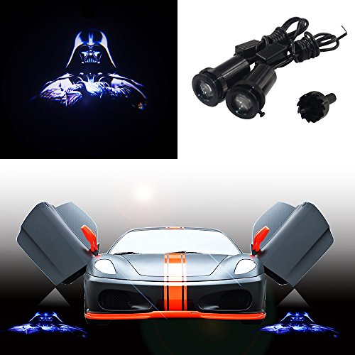 Spoya Star Wars Darth Vader Wired CREE 3W LED Car Door Logo Shadow Ghost Light Welcome Courtesy LED Projector Lights
