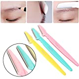 Facial Razors for Women, 3 Pcs Eyebrow Razor Face