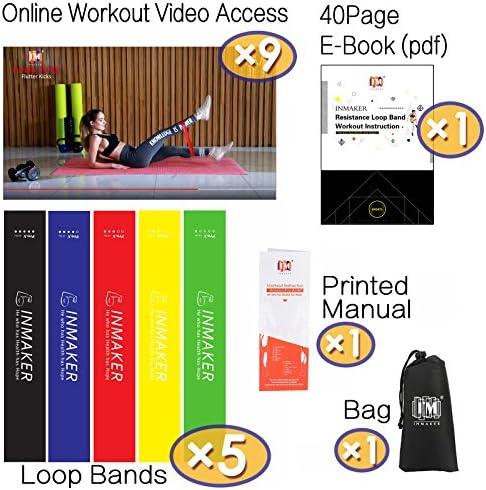 INMAKER Workout Bands Resistance for Women, Leg Bands for Working Out, Resistant Excersize Bands for Butt and Legs 2