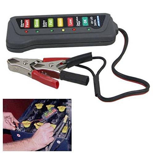 car battery tester tirol 12v car digital battery alternator tester with 6 led lights display. Black Bedroom Furniture Sets. Home Design Ideas