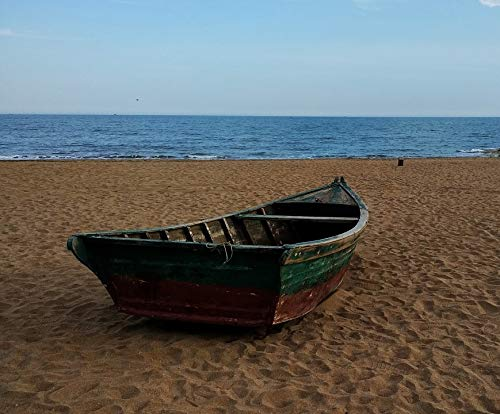 Photography Poster - Sandy, Beach, Boat, Sea, Summer, 24