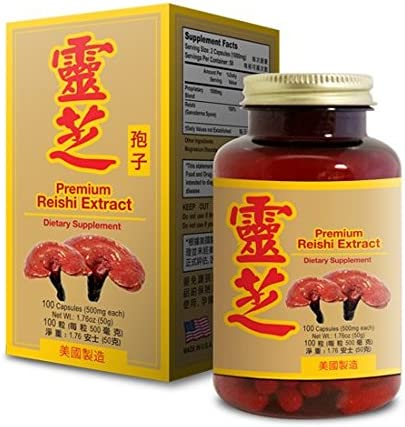 Premium Reishi Extract Capsule Dietary Supplement Boosting Immune System 100ct Made in USA