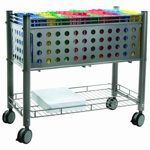 Wire Open Cart (Vertiflex Mobile File Cart with Open Top, 28.25 x 13.75 x 27.375 Inches, Matte Gray (VF52000))