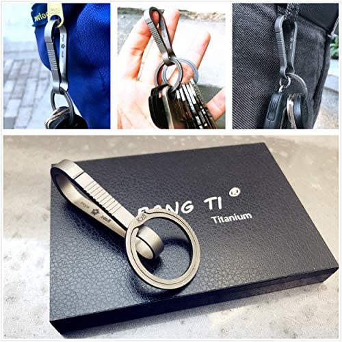 Amazon.com: BANG TI Kit de gancho de llavero de titanio de ...