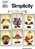 Simplicity 7360 Crafts Sewing Pattern Stuffed Pig & Clothes