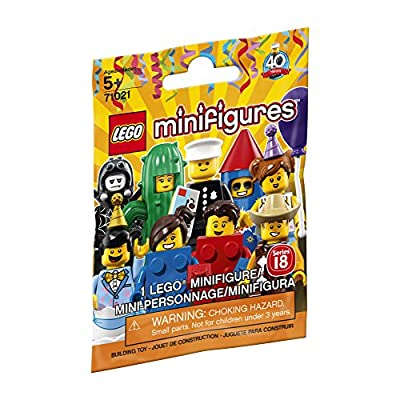 LEGO Minifigure Series 18: Party - 1 Figure Building Kit 7 pieces: Toys & Games