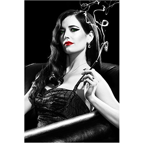 Eva Green Smoking with Red Lips and Green Eyes 8 x 10 Inch Photo