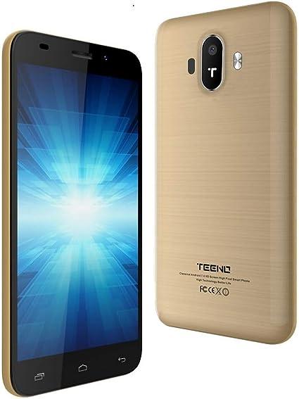 Movil Libre 5.0 Pulgadas Telefono 4G HD IPS 1GB RAM 8GB ROM Dual SIM Dual Cámara TEENO(K5016-Oro) TEENO: Amazon.es: Electrónica