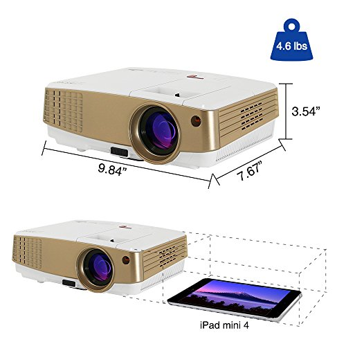 Lcd android wireless screen mirror projector for Mirror hd projector