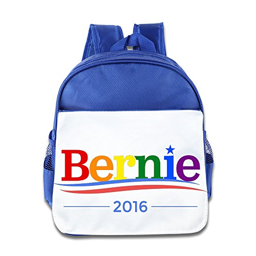 Bernie Sanders Logo Rainbow Gay Pride Backpack Children School Bag RoyalBlue