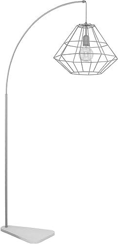 Graue Bogenlampe 179cm Modern Design Metall Stylisch Diamond Lampe