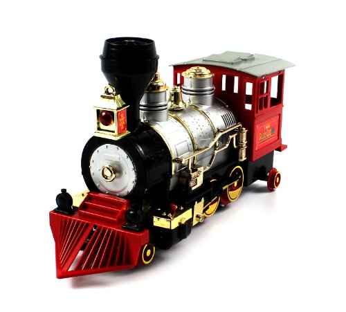 Rocky Mountain Golden Line Express Bump N Go Toy Train W  Authentic Horn Sound And Smoke By Velocity Toys