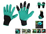 Starworld - Havy duty work and protect hands stained or finger injuries - easy & fast of Garden genies glove with 4 integrated claws for Rose Pruning Gloves Mittens Digging gloves (ABS Plastic) 5 pair