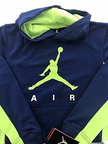 Boys Youth Jordan Jumpan Therma-Fit Hooded Pullover (Medium, Insignia Blue/Volt Jordan) by Jordan