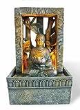 OK LIGHTING FT-1204/1L 9-Inch H Tabletop Buddah Led Fountain