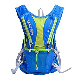 LANZON 2L / 2 Liter Hydration Pack, Running Vest (Blue pack only)