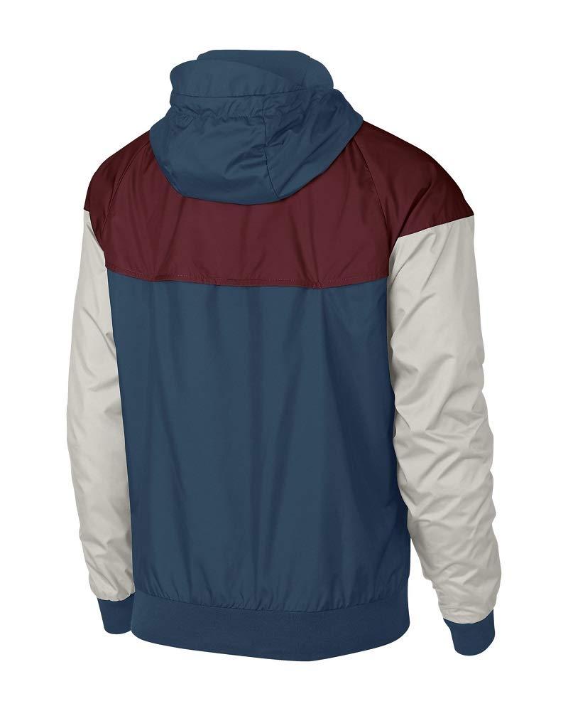 NIKE Sportswear Windrunner Jacket (Blue Force/Team Red/Light Bone, S) by Nike (Image #2)