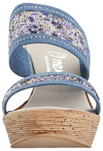 Wedge US Onex Women's Denim Sandal O Maryann M Black 5 NEX zqE5I
