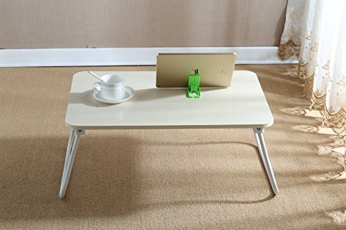 Top Breakfast Table - Homebi Lap Desk Tray Table Laptop Stand Portable Bed Desk Breakfast Tray for Bed Couch and Sofa with MDF Top Board and Foldable Metal Legs (11.20