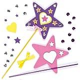 Crea tus Propias Varitas Mágicas Manualidades Creativas para Niños Perfectas para Fiestas de Hadas y Princesas (Pack de 4)