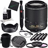 Nikon AF-S DX NIKKOR 55-200mm f/4-5.6G ED VR II Lens + 52mm 3 Piece Filter Set (UV, CPL, FL) + 52mm +1 +2 +4 +10 Close-Up Macro Filter Set with Pouch + Lens Cap + Lens Hood Bundle