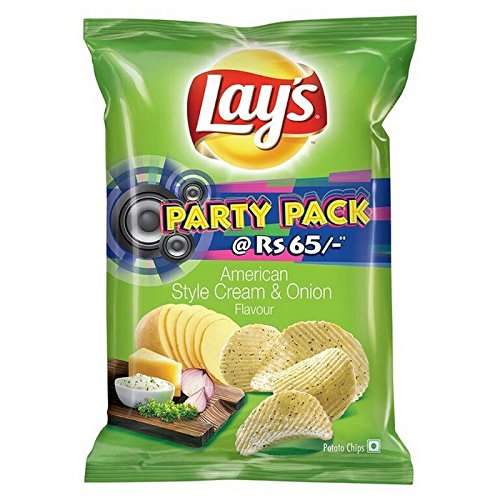 Lays Potato Chips American Style Cream And Onion Flavour Party Pack
