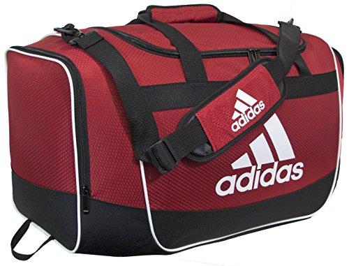 (adidas Defender II Duffel Bag (Medium), University Red, 13 x 24 x 12-Inch)