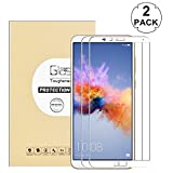 """KTTWO Huawei Mate SE Screen Protector Glass, (2PACK) Full Screen Coverage Anti-Scratch Bubble-Free Tempered Glass Screen Protector with Full Glue for Huawei Honor 7X/MATE SE 5.93"""" Smartphone (White)"""
