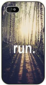 Run. Sunshine in the forest - iPhone 4 / 4s black plastic case / Life and dreamer's quotes