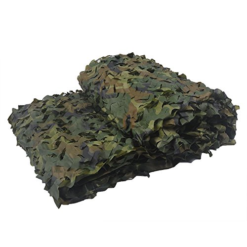 Camo Netting, LOOGU Camouflage Net 150D Blinds Great For Sunshade Camping Shooting Hunting Party Decoration (Woodland, - Price Usps Day Next