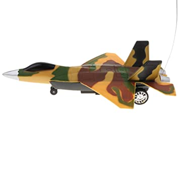 B Blesiya Juguete de Avión Militar Teledirigido con Música ...