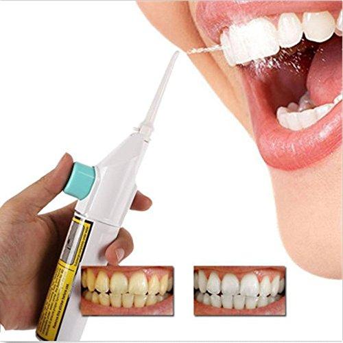 Longra Portable Power Floss Dental Water Jet Cords Tooth Pick Braces No Batteries Teeth Cleaner Handhold Water ()