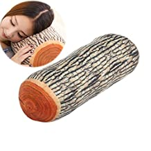 Winterworm® Creative Natural Wood Design Soft Comfortable Neck Sleeping Throw Log Pillow Cushion Toy For Home Office Car