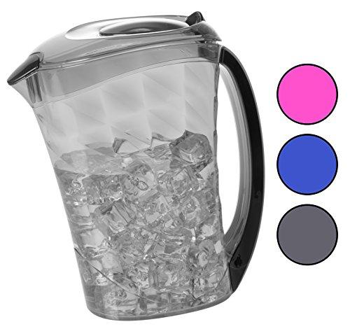 Plastic Diamond Pitcher, Drip Free Cold Water Juice Iced Tea Beverage Jug,81 fl oz (Random (Plastic Juice Pitcher)